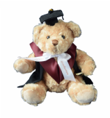 Graduation Teddy Bear with Gown and Scroll